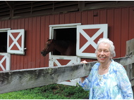 Soroptimist member, Helen Babione and the Soroptimist club were instrumental in starting Equine-Assisted Therapies.